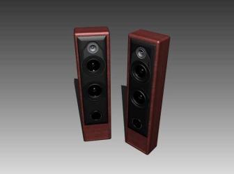 Speaker Tower 2.0 Free 3dMax Model