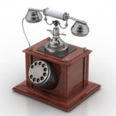 Old Wooden TelePhone Free 3dmax Model