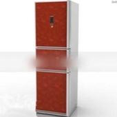 Free 3dmax Model Red Fridge