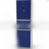 Blue Free 3dmax Model Refrigerator