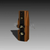 Wooden Dvd Speaker Free 3dmax Model