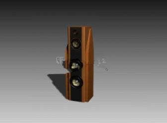 Wooden Dvd Speaker Free 3dmax Model