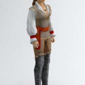 Foreign Woman Free 3dmax Model Figures