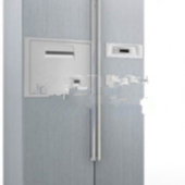 Free 3dmax Model Of Two-door Refrigerator