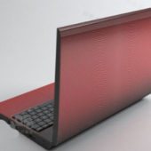 Red Laptop Free 3dmax Model