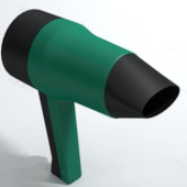 Green Hair Dryer Free 3dmax Model