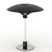 Black Elegant Table Lamp Free 3dmax Model