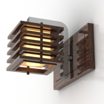 Wooden Walls Wall Lamp Free 3dmax Model