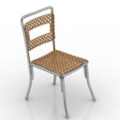 Gold Rattan Chair