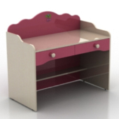Pink Children Desk Free 3dmax Model