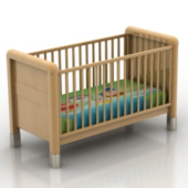 Free 3dmax Model Of A Wooden Crib