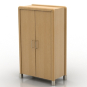 Simple Wooden Wardrobe Free 3dmax Model
