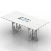 White Table Free 3dmax Model