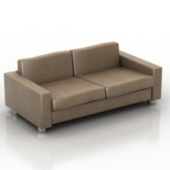 Brown Couch Multiplayer Free 3dmax Model