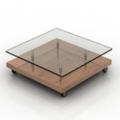 Floor Transparent Coffee Table