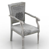 Vintage European Chair Free 3dmax Model