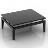 Black Tea Coffee Table Free 3dmax Model