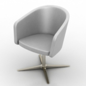 Silver Cup-shaped Sofa Free 3dmax Model