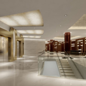 Company Hallway Free 3dmax Model