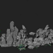 Outdoor Rockery Design Free 3dmax Model