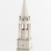 Free 3dmax Model White Noble Church