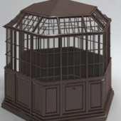 Enclosed Pavilion Free 3dmax Model