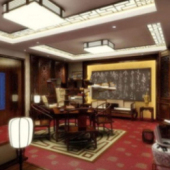 Indoor Entertainment Room Free 3dmax Model