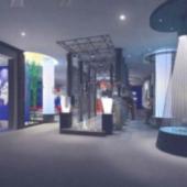 Hall Free 3dmax Model Design