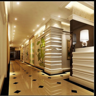 Free 3dmax Model Modern Hotel Hallway