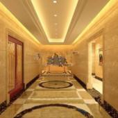 Free 3dmax Model Star Hotel Hallway