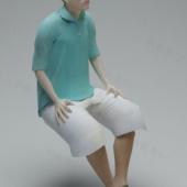 Men Sitting Free 3dmax Model