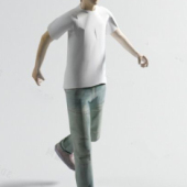 Young Men Free 3dmax Model