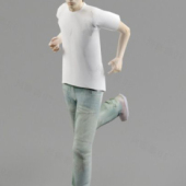 White T-shirt Boy Free 3dmax Model