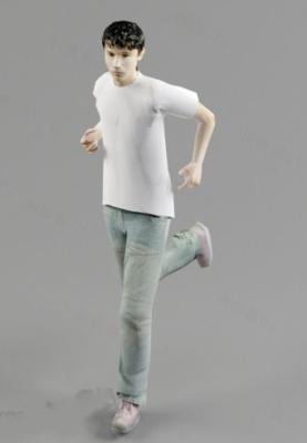 White T-shirt Boy