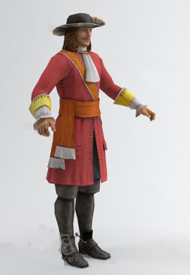 The Male Red Nobility Free 3dmax Model