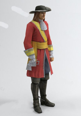 Men In Red Free 3dmax Model
