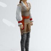 Western Women Ranger Free 3dmax Model