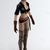 Female Assassin Free 3dmax Model
