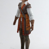 Female Game Character Free 3dmax Model