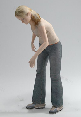 Bend Over Girl Free 3dmax Model