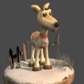 Reindeer Free 3dmax Model C4d Formats