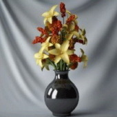 Flowers Vase Decoration Free 3dmax Model