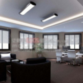 Casual Office Interior Space Free 3dmax Model