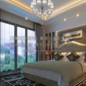 Modern Bedroom Free 3dmax Model Scene