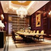 Family Restaurant Scene Free 3dmax Model