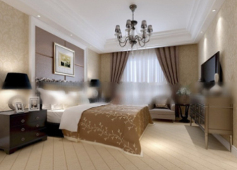 hotel double bedroom interior scene free 3dmax model free download