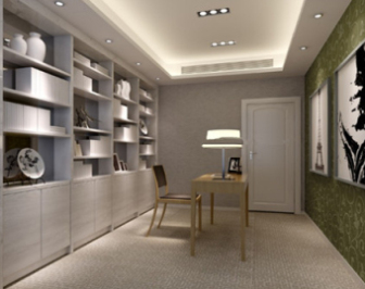 study room interior design free 3dmax model preview 3d model - 3d Max Interior Design Models