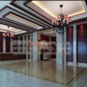 Vintage Hotel Lobby Scene 3dMax Model