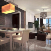 Home Design Interior Scene 3dmax Model