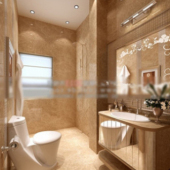 Bathrom Interior Scene Free 3dmax Model
